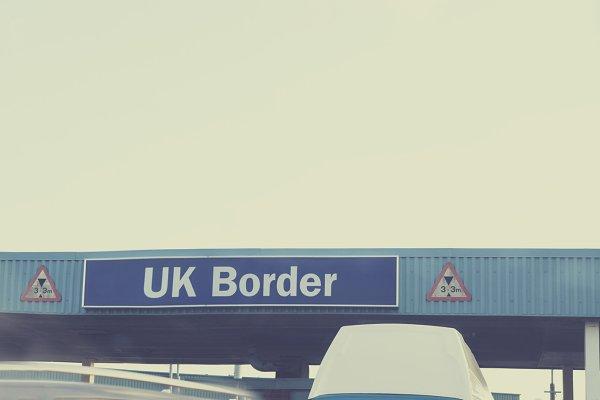 uk border  highquality transportation stock photos