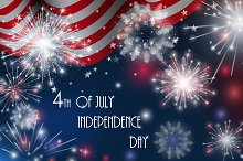 4th of July vector greeting cards