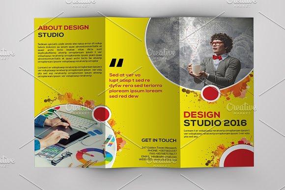 Design Studio Trifold BrochureV552 Brochure Templates – Studio Brochure