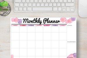 Pink Planner: Letter Size
