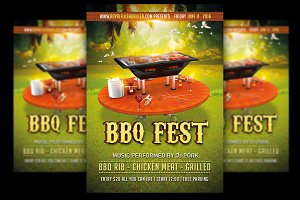 BBQ Party Flyer + FB Banner