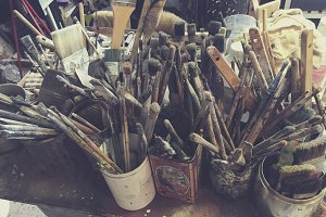 Artist's paintbrushes