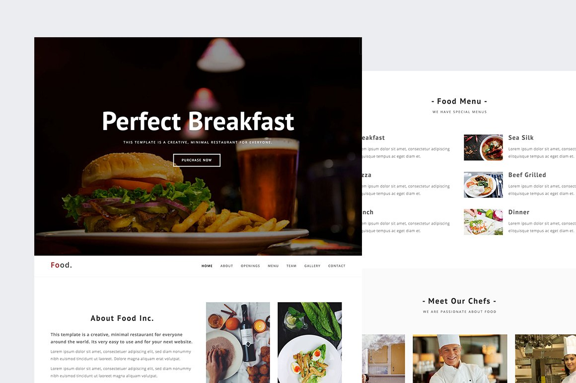 food restaurant html template html css themes creative market