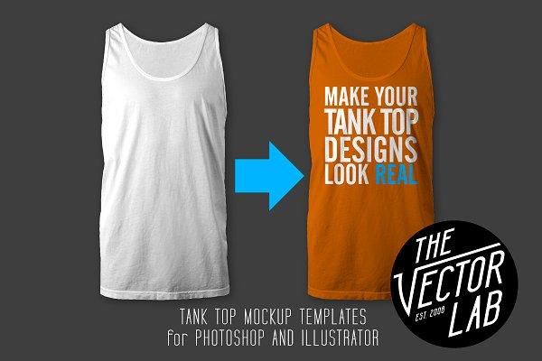 Tank Top Mockup Templates - PSD & A…