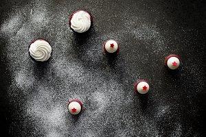 Rustic Red Velvet Cupcakes