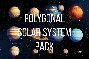 Polygonal style Solar System