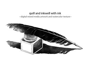 quill and inkwell