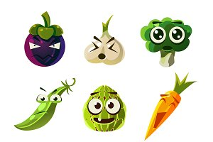 Funny Vegetable and Fruit