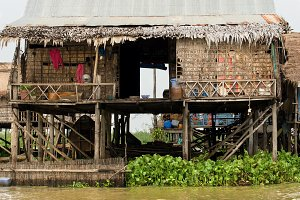 House on Stilts in Cambodia