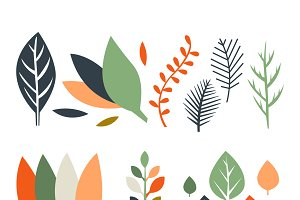 Leaves in Flat Design