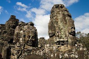 Bayon Temple Buddha Carvings