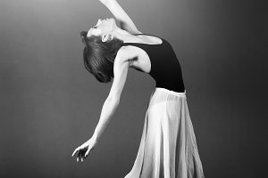 Ballerina Looking Into The Light