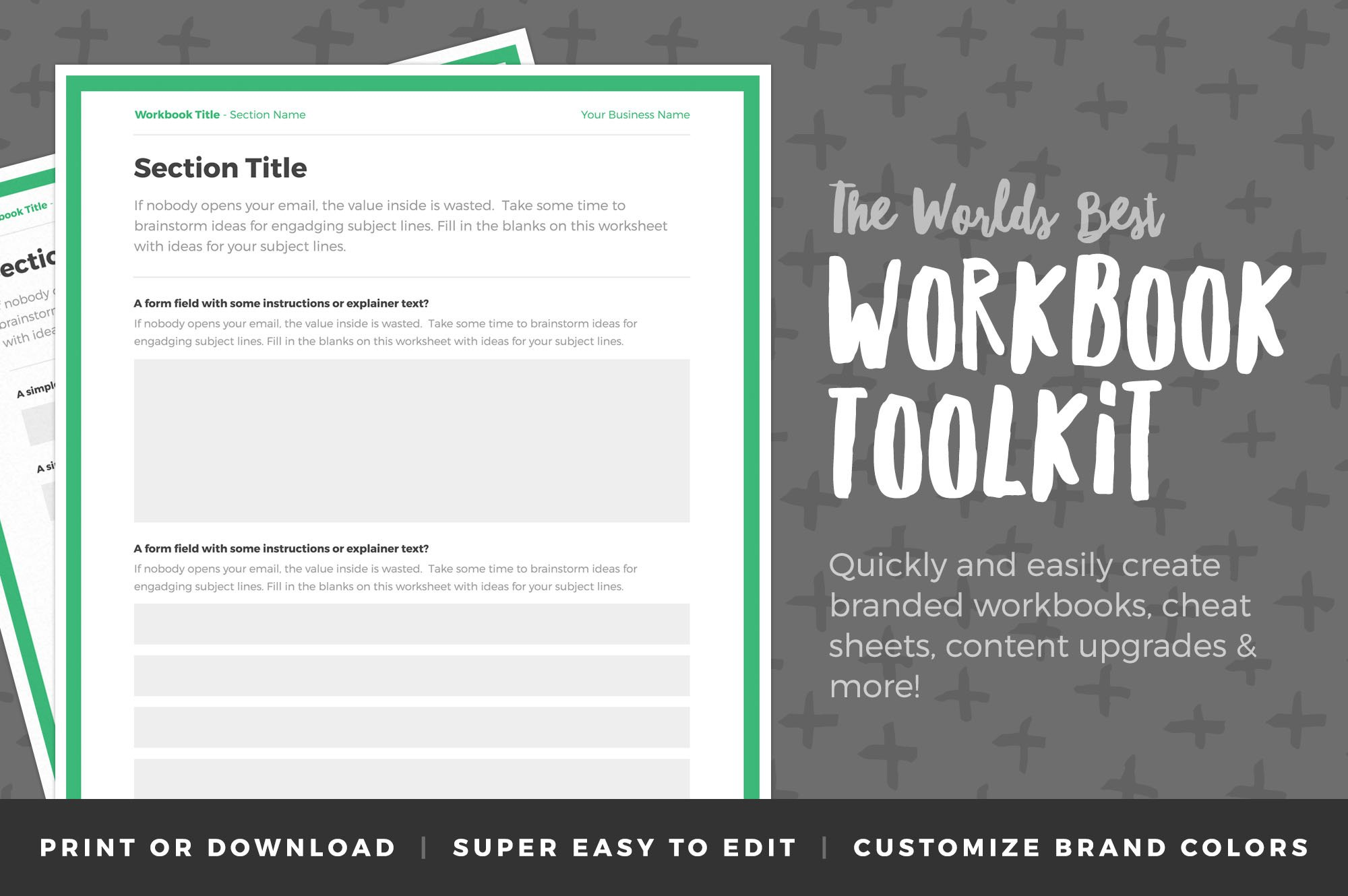 Workbook Template Photos Graphics Fonts Themes Templates