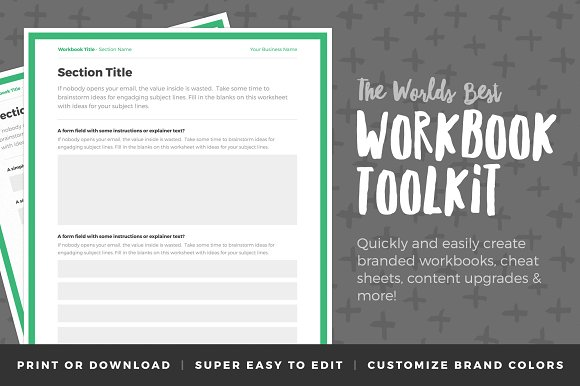 workbook toolkit volume one stationery templates creative market