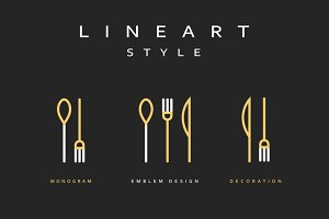 Icon knife, fork and spoon.