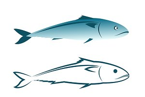 Vector image of an mackerel design