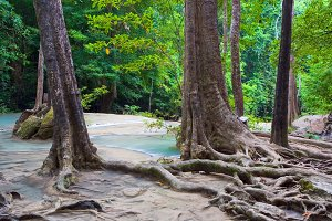 Erawan National Park in Thailand