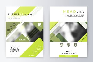 Brochure template reports.