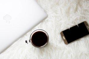 Coffee, Computer, & Phone