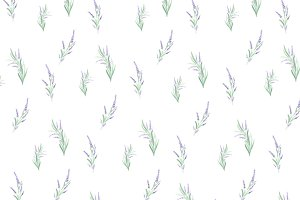 Watercolor lavender pattern
