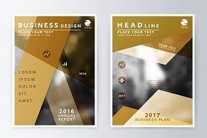 Brochure template reports