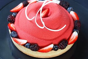 Contemporary Berry Mousse Cake