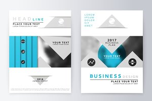 Blue annual Report Brochure.