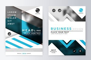 Business plan flyer design template