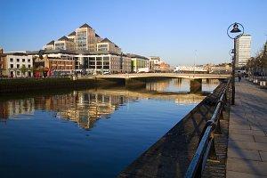 Morning in Dublin at River Liffey