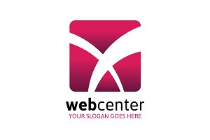 Web Center Logo - Letter X
