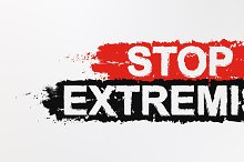 Stop extremism graffiti sign. Vector