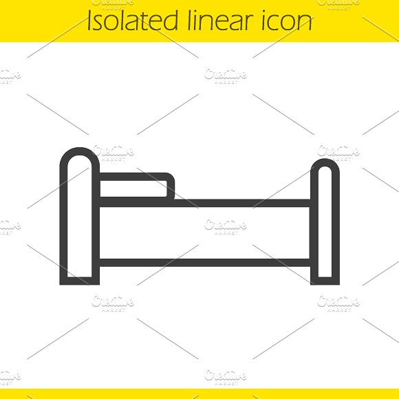 Bed linear icon. Vector - Icons