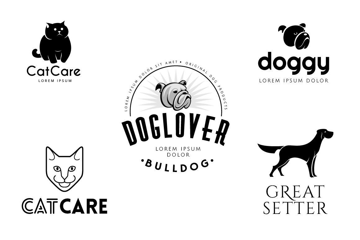 pet logo templates bundle logo templates creative market