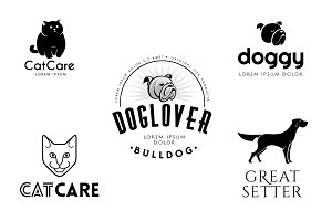 Pet Logo Templates Bundle