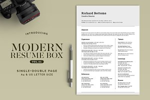 All in One Modern Resume Box V.1