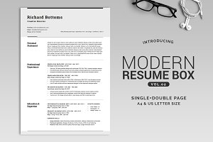All in One Modern Resume Box V.2