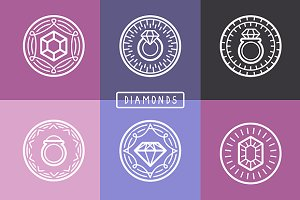 Outline jewelry emblems