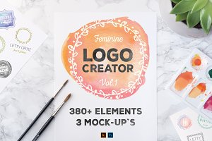 LogoCreator 380+ Elements & Mock-Ups