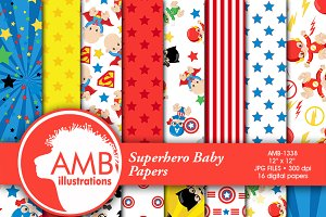 Superhero Digital Papers, 1338