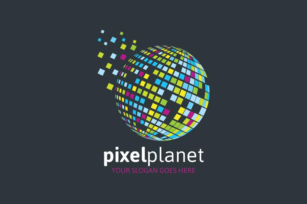Pixel Planet Logo Logo Templates Creative Market