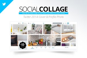 Social Collage | Twitter 2014 Cover