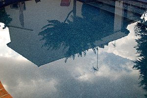 reflections on pool