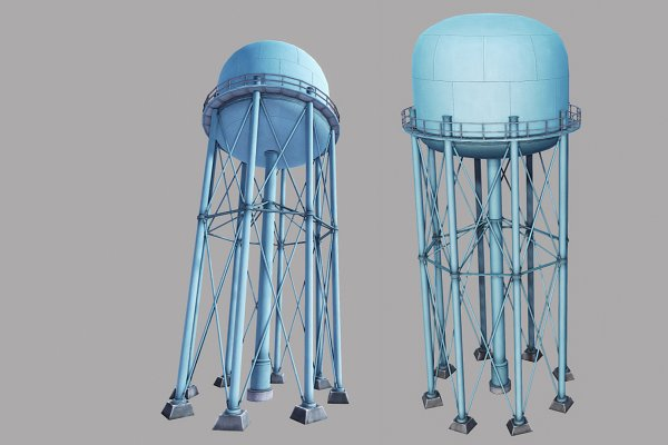 3D Architecture: GamePoly - Metal Water Tower