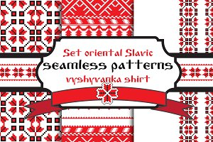 Set belarusian traditional patterns