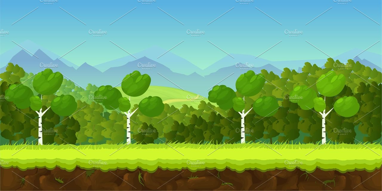 Game background illustrations creative market - 2d nature wallpapers ...