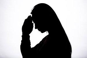Woman hands praying