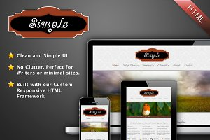 Simple - A Minimal HTML Template