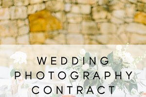Wedding Photo Contract Template
