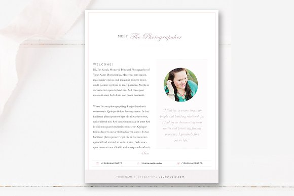 Photographer About Me Template ~ Flyer Templates