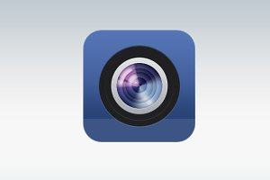 Blue Camera Icon